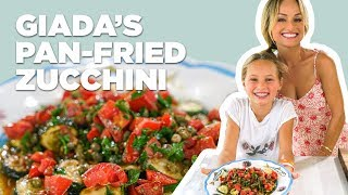 Giada De Laurentiis Makes Pan-Fried Zucchini with Anchovy Vinaigrette | Food Network
