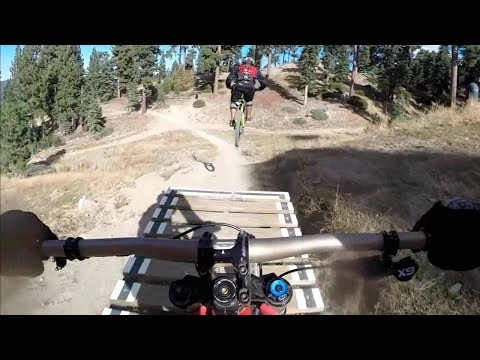 "Thumbnail: Snow Summit Bike Park, Big Bear MTB ""Cruiser trail"" Oct 11, 2015 Crafts and Cranks race day"