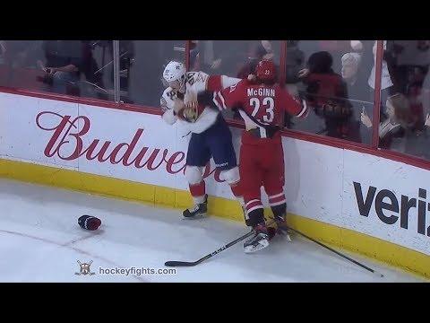 Jared McCann vs Brock McGinn Dec 2, 2017