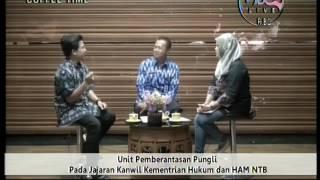 Sosialisasi Saber Pungli oleh Kadiv Pemasyarakatan (Coffe Time Lombok TV)