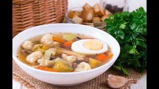 Суп из запеченных овощей с лапшой