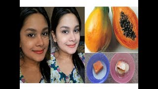 How To Do Papaya Facial For Clear Skin | How To Remove Dark Spots Hyper pigmentation Naturally
