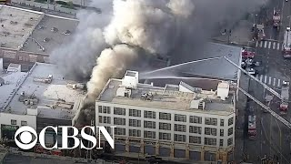 Several firefighters injured in explosion at downtown Los Angeles warehouse