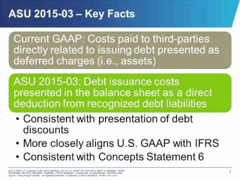 ASU 2015-03, Simplifying the Presentation of Debt Issuance Costs
