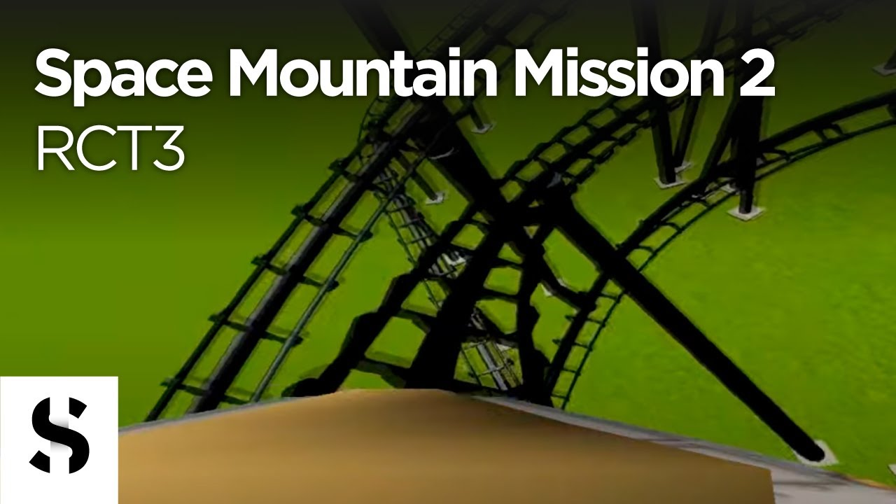 RCT3 - Space Mountain Mission 2 - Onride Audio Test - YouTube