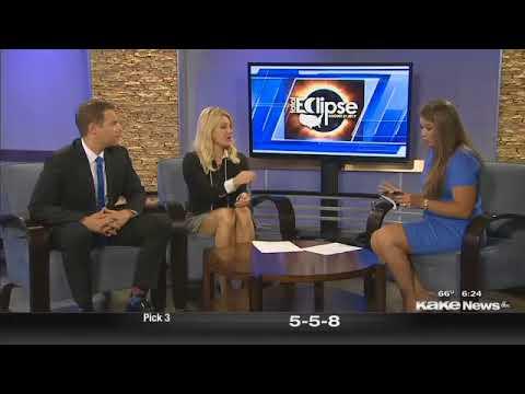 Jill Prilliman, Grene Vision Group optometrist, discusses Eclipse eye safety on KAKE-TV.