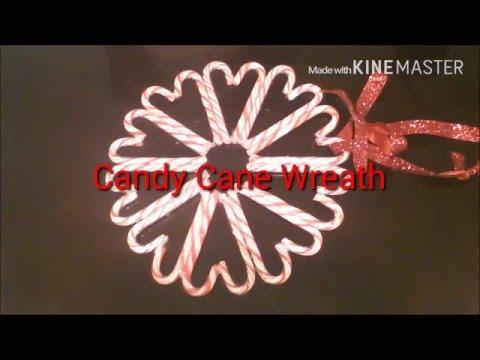 DIY/ CANDY CANE WREATH 2015