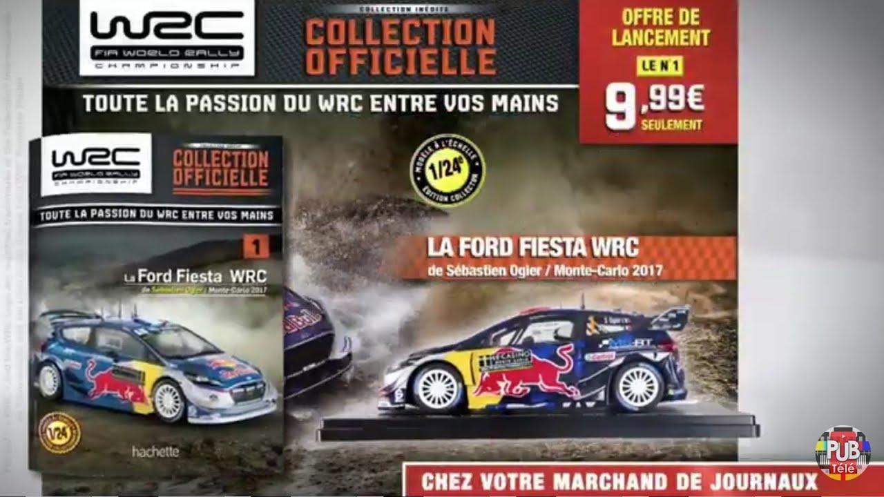 """Musique pub collection WRC maquette 1/24ème   Hachette """"n°1 Ford Fiesta WRC de Sébastien Ogier""""  2021"""
