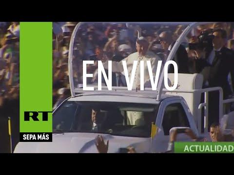 El papa Francisco celebra una misa en Juárez