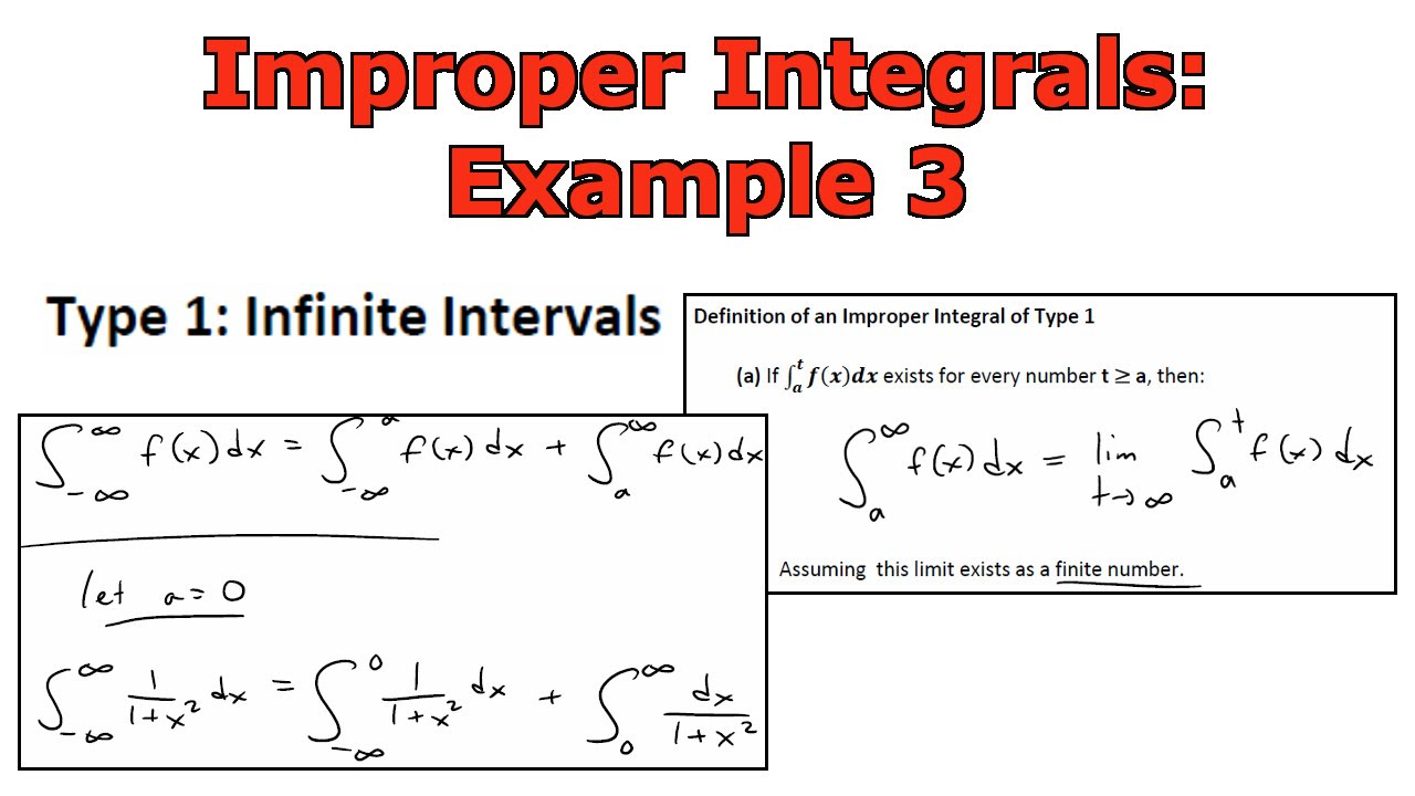 Improper Integrals Example 3 11x2 Youtube