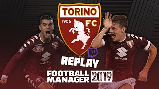 Football Manager 2019 / Twitch Replay #4 - Serie A opener + Juventus!