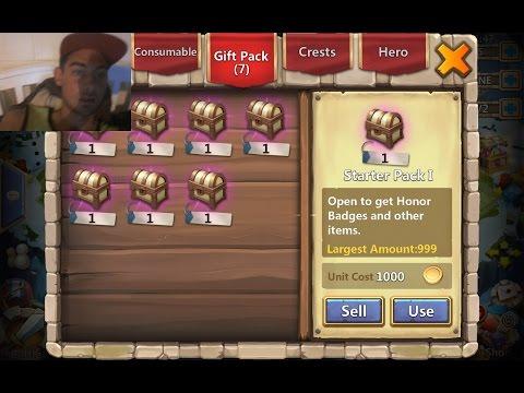 Opening 7 Days Reward Chests - Castle Clash