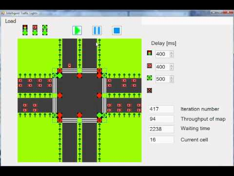 Intelligent Traffic Lights ver. 2 - YouTube