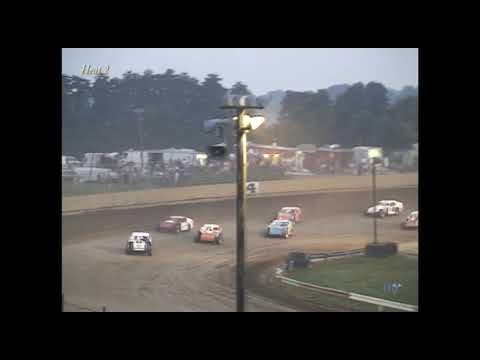 Full race from the IMCA Modified division at Hartford Speedway Park in MI June 29, 2001. Missing footage at the end of the feature. - dirt track racing video image