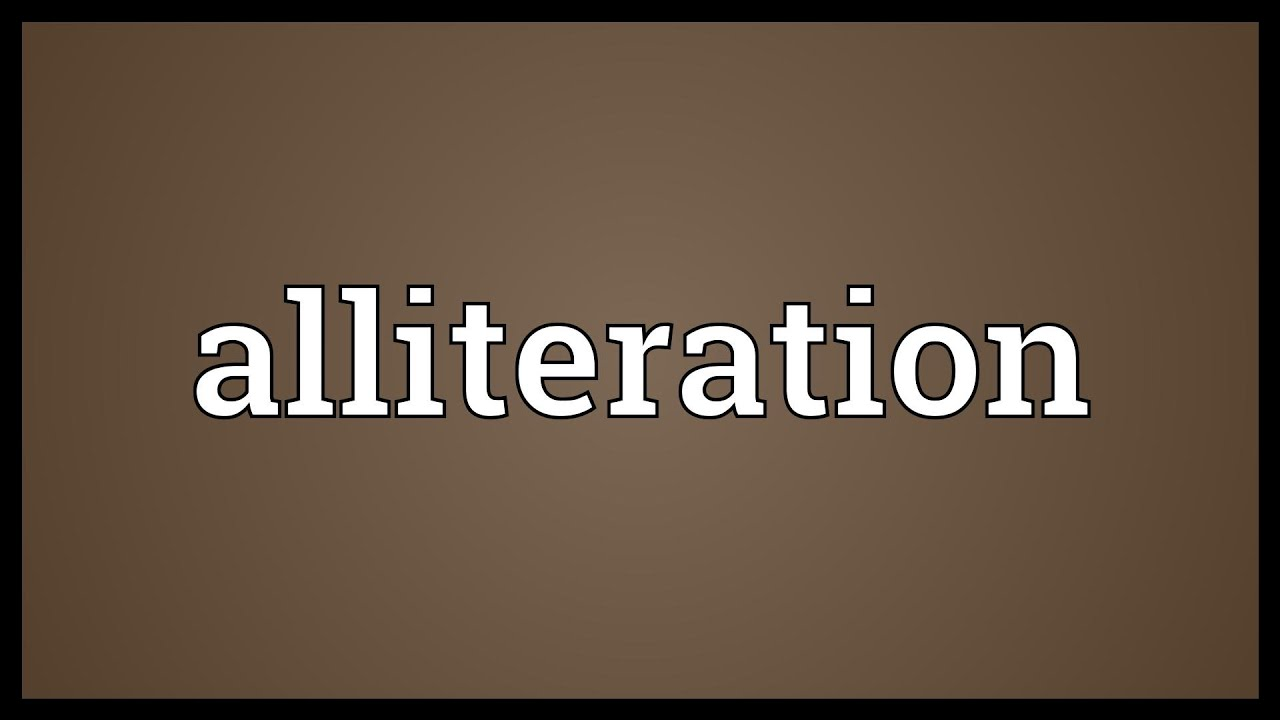 Alliteration Meaning - YouTube