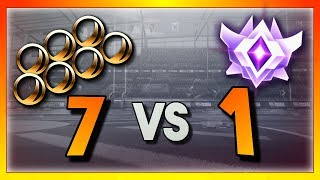 1 Grand Champion vs 7 Bronze Players (Rocket League Showmatch)