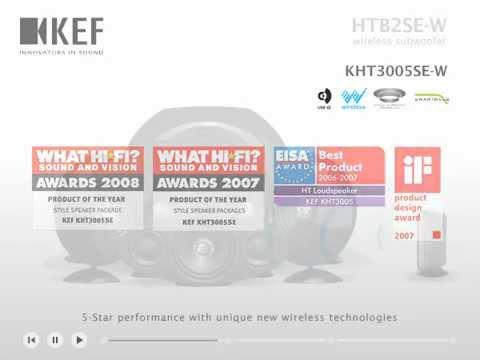 kef kht3005se. kef htb2se-w wireless subwoofer / kht3005se-w kef kht3005se