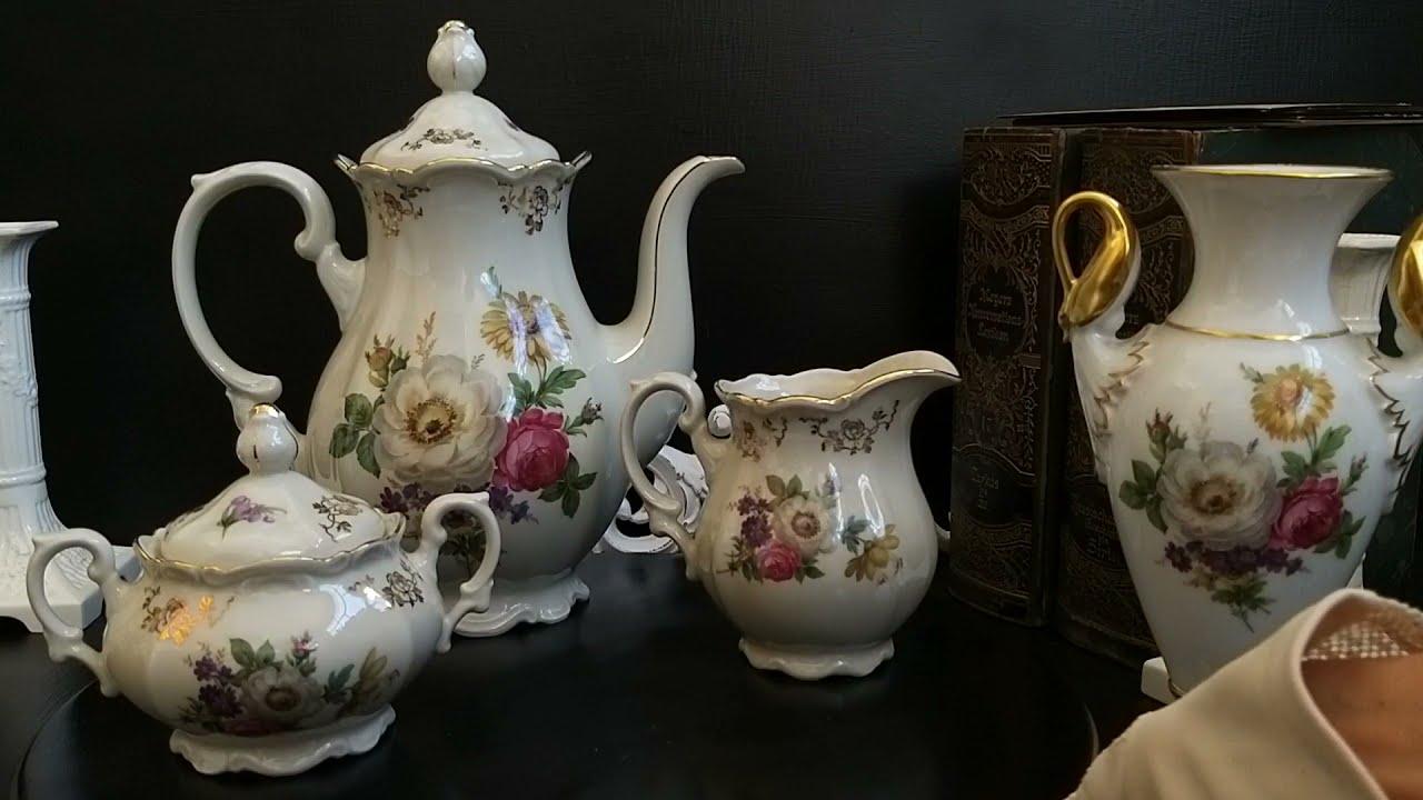 Немецкий фарфор барахолка Германия ищим клад и находим сокровища чайные трио сервизы антик лавка ста