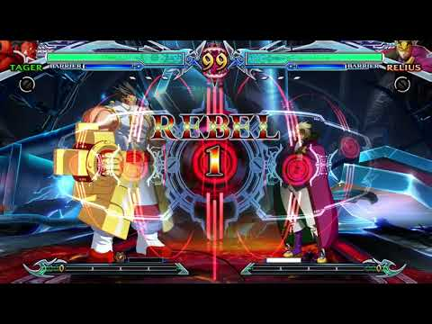 Blazblue Chronophantasma Extend-Tager Arcade Mode End |
