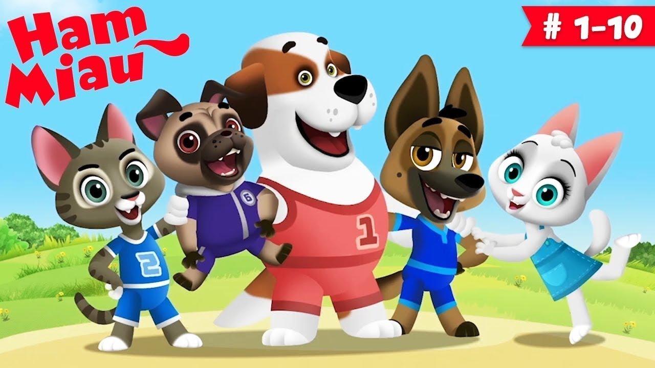 Ham Miau ? ep. 1-10 ? Desene animate pentru copii -  HeyKids