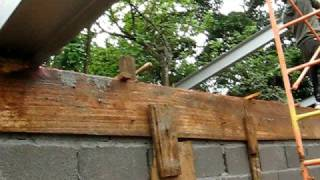 How to erect Stęel Beams without a crane or power equipment