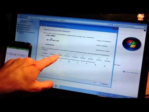 Jak Aktywować Systemu Windows 7 przez telefon 008001211654
