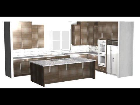 Barker Modern advanced kitchen cabinet layout tutorial