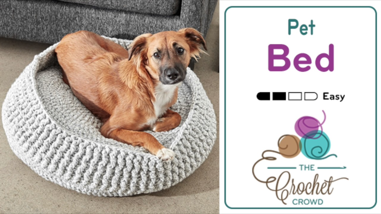 Crochet Pet Bed Tutorial The Crochet Crowd