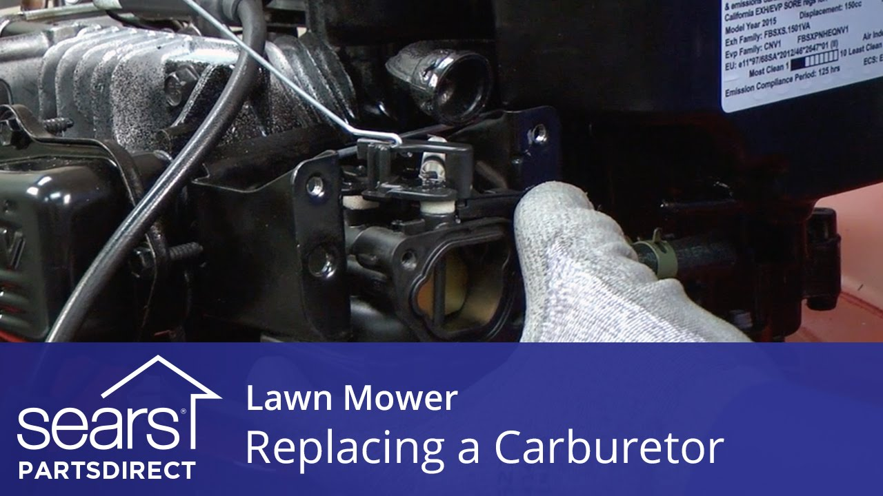 replacing the carburetor on a lawn mower sears partsdirect [ 1280 x 720 Pixel ]