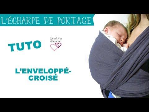 écharpe de portage nouage facile : l'enveloppé-croisé de nouveau-né à bambin | Ling Ling d'amour