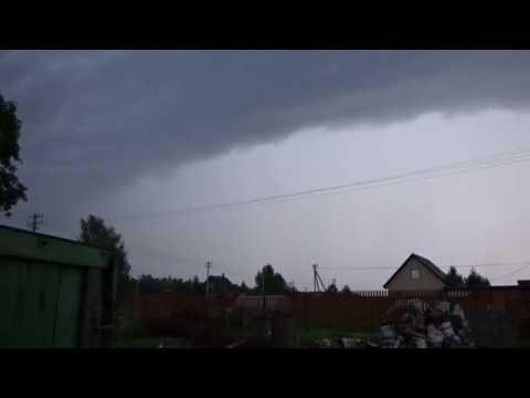 Сильная гроза с высокой электроактивностью и мощным ливнем в Ярославле 24 июля 2019 г.