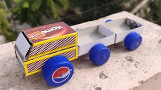 How to make a Magnet powered Toy Truck | Match Box Truck making