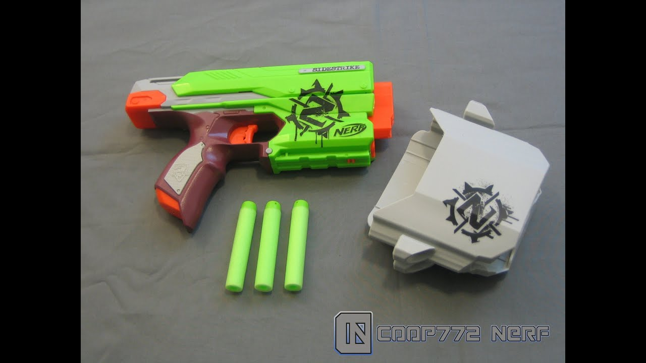 [REVIEW] Nerf Zombie Strike Sidestrike Review & Firing Test