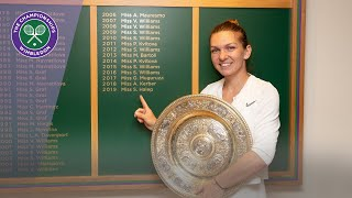 Wimbledon 2019 Champion Simona Halep walks through Centre Court