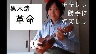 黒木渚の「革命」をウクレレで簡単に弾き語り.