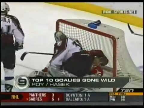NHL top 10 goalies crazy monnents