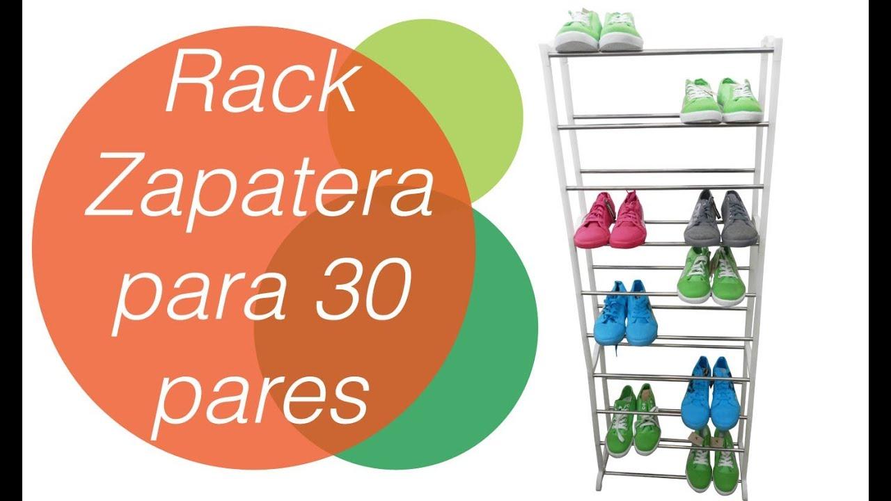 Zapatera rack amazing rack para 30 pares de zapatos doovi for Zapatero para 30 pares de zapatos
