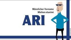 Ari, finnischer Vorname ARI. Namenstag, nimipäivä