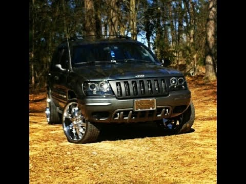 2002 jeep grand cherokee overland on 22s youtube. Black Bedroom Furniture Sets. Home Design Ideas