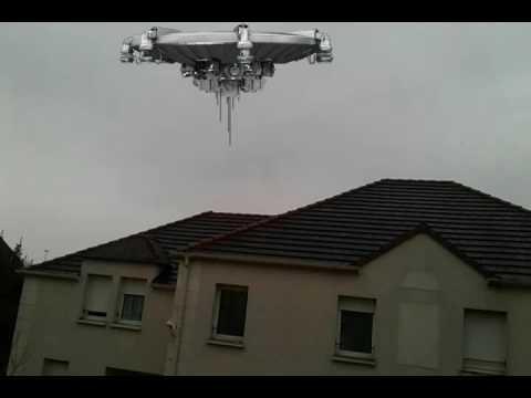J'ai filmé une soucoupe volante en train de voler au-dessus d'un Jardin! (😁)