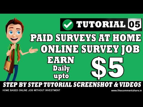 earn $5 per day easy complete survey online in india