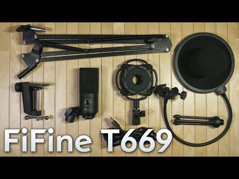 НОВЫЙ FIFINE T669 ТОПОВЫЙ USB микрофон + набор аксессуаров для стрима за 55 баксов!
