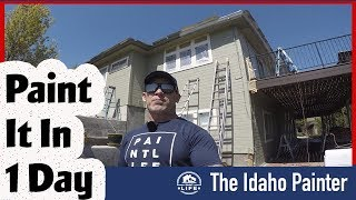 Paint A 5000 SQFT House 5 colors in 1 DAY