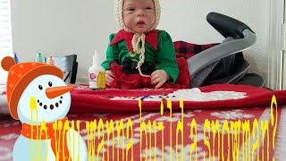 REBORN BABY MOLLY PAINTS HER CHRISTMAS STOCKING! TALKING COMEDY BABY DOLL!