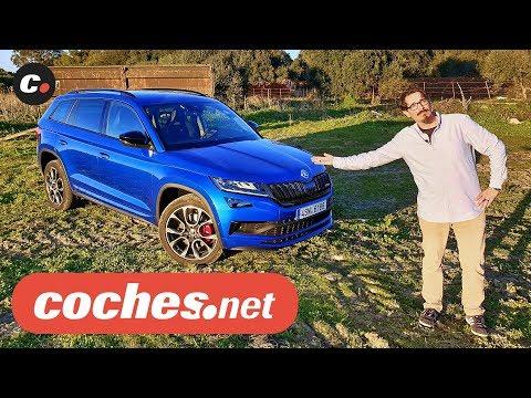 Skoda Kodiaq RS 2019 SUV Primera prueba Test Review en espaol coches.net
