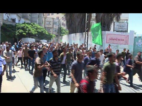تشييع الفلسطيني محمد شريف بدوان الذي قتل برصاص الجيش الاسرائيلي