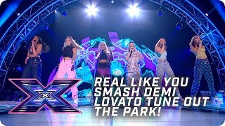 Real Like You SMASH Demi Lovato tune out the park! | X Factor: The Band | The Final