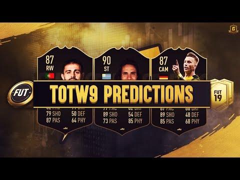 FIFA 19 TOTW 9 Predictions FT SIF Reus, IF Cavani, SIF Bernardo Silva