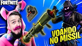 FORTNITE-FLYING IN MISSILE and MITANDO (NEW SKINS and WEAPONS) news and Gameplay