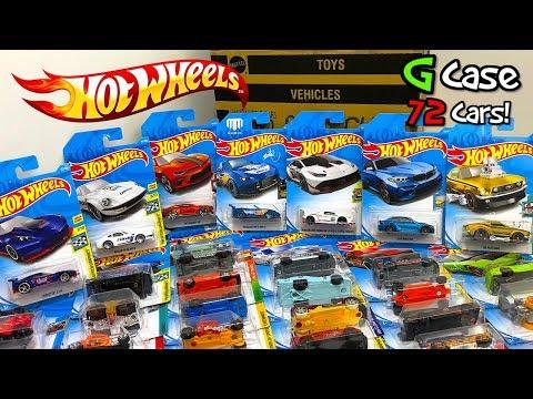 Unboxing Hot Wheels 2018 G Case 72 Car Assortment!